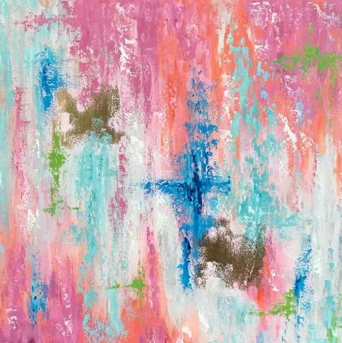 Pink Abstract, 24x24"
